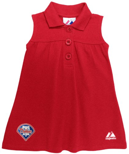 MLB Philadelphia Phillies Toddler Goods My Favorite Logo Sleeveless Dress By Majestic (ATH R, 2T) at Amazon.com
