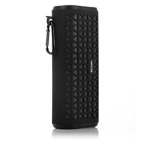 Ecandy Outdoor Sports Wireless Portable Bluetooth Speaker Support Hands-free Function Tf Card for Car Apple Iphone Ipod Ipad Samsung Galaxy, Note, Sony Nokia Blackberry Smartphones Mp3/mp4 Player for Latop Macbook PC Tablet Computer Bluetooth Enabled Device,Black