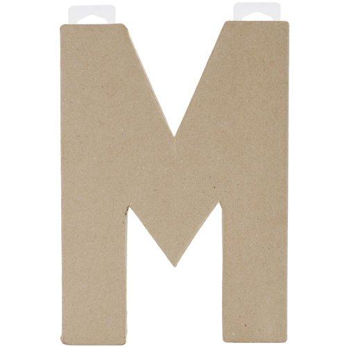 Paper Mache Letter - M - 8 X 5.5 X 1 Inches