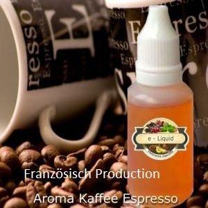 Nachfüll Fluid Liquid 10 ml für die elektrische Zigarette - Kaffee Stark - Zum Nachfüllen von Depots für elektrische Zigaretten, Zigarren und Pfeifen(Französisch Production)0,0mg Nikotin