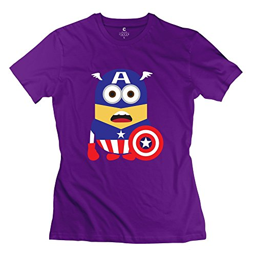 ZHUYOUDAO Women's The Avengers Captain America Despicable Me Minions T-shirt