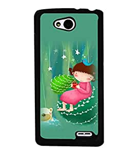 printtech Girly Teddy Back Case Cover for  LG L90
