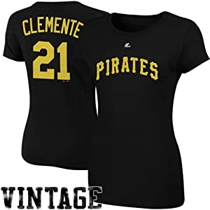 MLB Majestic Cooperstown Collection Roberto Clemente Pittsburgh Pirates Ladies Player... by Majestic