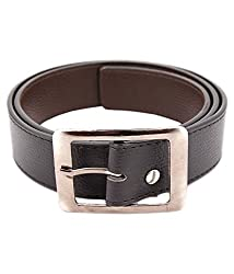 Kesari's Brown Leather Single Belt For Men (BR-HBUCKLE-35)
