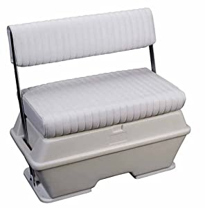 Moeller Deluxe Permanent Mount Swing Back Cooler or Livewell Boat Seat (72-Quart, 37... by Moeller Marine