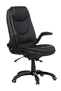 Chefsessel FREIBURG Bürosessel schwarz inkl Sicherheitsrollen Bürostuhl Armlehnen