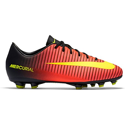 Nike Kids JR Mercurial Vapor XI FG Total Crimson/Vlt Blk Pnk Blst Soccer Cleat 2.5 Kids US (Nike Vapor Ronaldo compare prices)