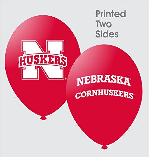 "NCAA Nebraska Cornhuskers Scarlet 10-Pack 11"" Latex Balloons - 1"