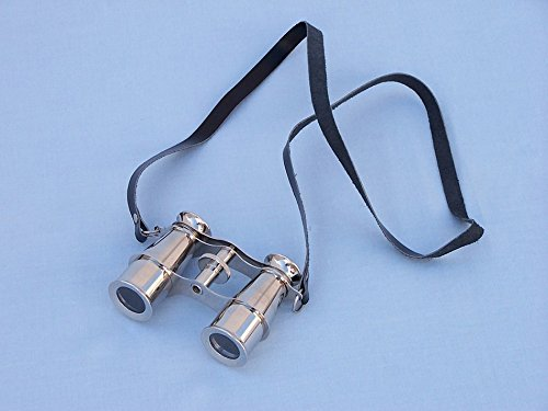 "Captain'S Chrome Binoculars 4"" - Chrome Binoculars - Nautical Home Accent"