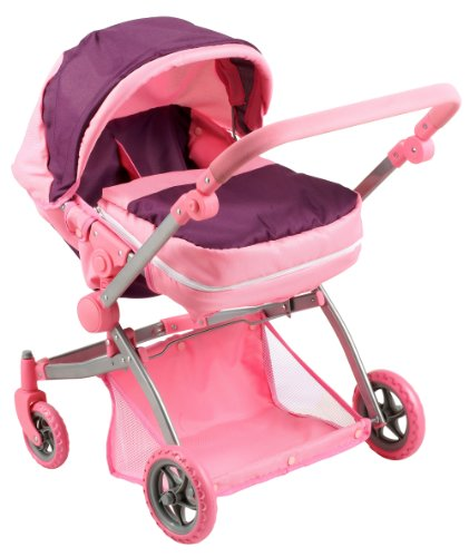 Doll Strollers Pro Deluxe Twin Doll Pram/Stroller Purple & Pink at Sears.com