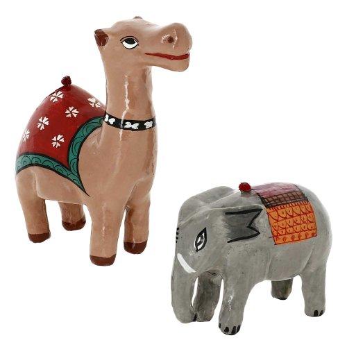 Paper Mache Animal Decor Valentine Ornaments Camel And Elephant