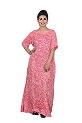ChhipaPrints 100% Cotton Women Pink Gown(1010_Pink_42)