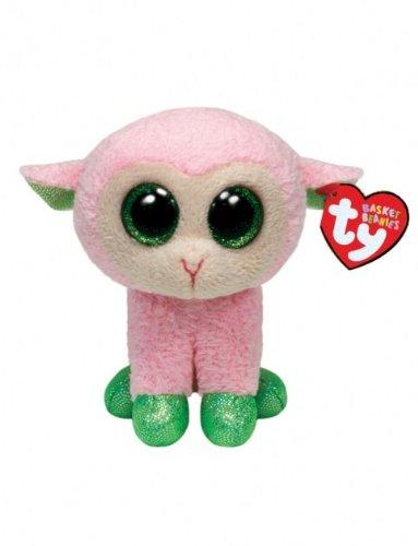 Ty Basket Beanies Babs - Pink Lamb - 1