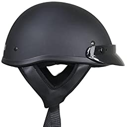 Outlaw Solid Flat Black Half Helmet - Small