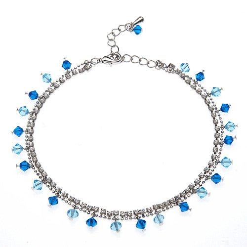 Ocean Blue Swarovski Faceted Crystal  Cubic Zirconia