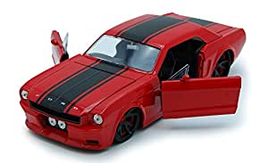 Amazon.com: 1965 Ford Mustang, Red - Jada Toys Bigtime