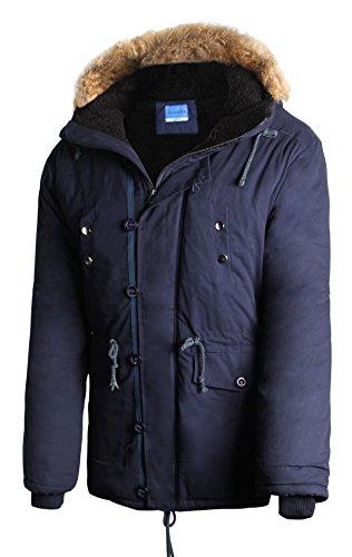 iLoveSIA Mens Winter Coat Jacket Hooded Parka