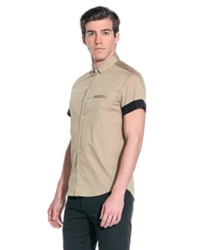 Costume National Camicia Uomo [Nero/Beige]