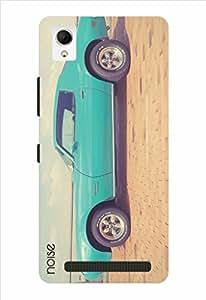Noise Vintage Blue Car Printed Cover for Intex Aqua Power Plus