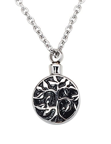 Tree of Life Cremation Urn Jewelry Necklace &
