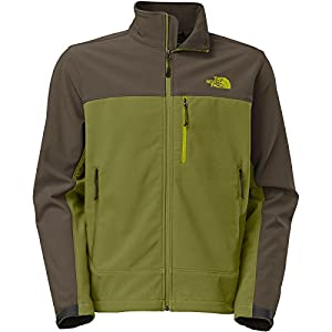 The North Face Apex Bionic Softshell Jacket - Men's Grip Green/Black Ink Green, L from The North Face