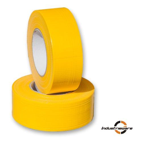 50m-Rolle-Gewebeklebeband-Gewebeband-Panzerband-Panzertape-gelb