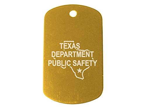 Police Texas Tx Dps Light Gold Dog Tag Custom Engraved By Ndz Performance