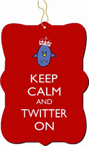 Keep Calm and Twitter On Red Color Ornament