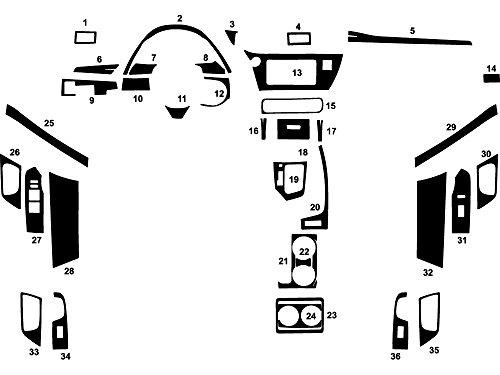 Rdash Dash Kit Decal Trim for Toyota Corolla 1988-1990 - Wood Grain (Burlwood Honey) (Wood Dash Kit For Corolla compare prices)