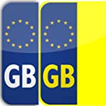 2 x Legal Euro GB Badge Car Number Pl...