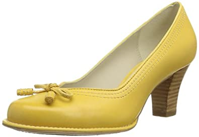 Clarks Bombay Lights 203573074 Damen Pumps, Weiß (Yellow Leather), EU 37