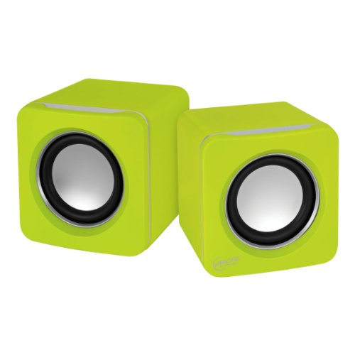 Arctic S111 Usb-Powered Portable Stereo Speakers For Tablet/Ereader/Mp3/Computers, Balanced Treble/Superior Bass - Lime