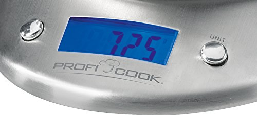 Profi Cook 2043215 Balance de Cuisine PC-KW 1040 avec Bol Inox 21 x 10 x 21 cm