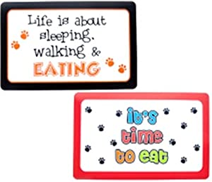 "Petmate Dog Bowl Food Place Mats with Cute Pet Quotes 11""W X 18""L- pack of 2"