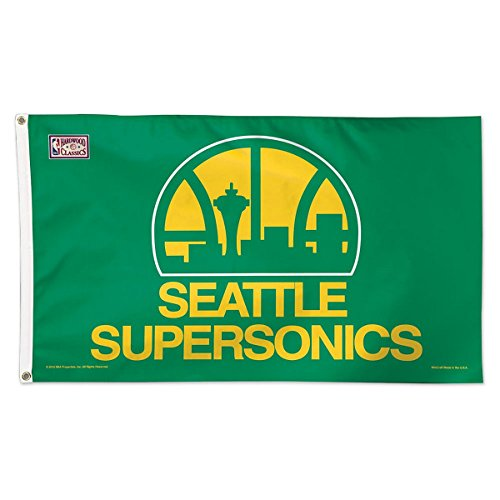 NBA Oklahoma City Thunder 02409115 Deluxe Flag, 3' x 5'