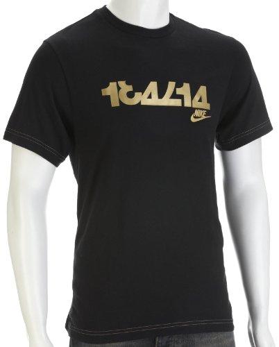 Nike Men's City Print T-Shirt Charcoal 253064-016 UK 39/41