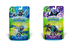 SKYLANDERS SWAP FORCE WAVE 4 Set of 2: TRAP SHADOW & FREEZE BLADE!