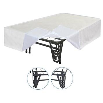 Superb Sleep Master Piece Bracket Set and Bed Skirt for Platform Bed Frame Queen