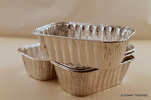 Set of 10 Mini Disposable Aluminum Foil Loaf Pans (Mini Loaf Pan Disposable compare prices)