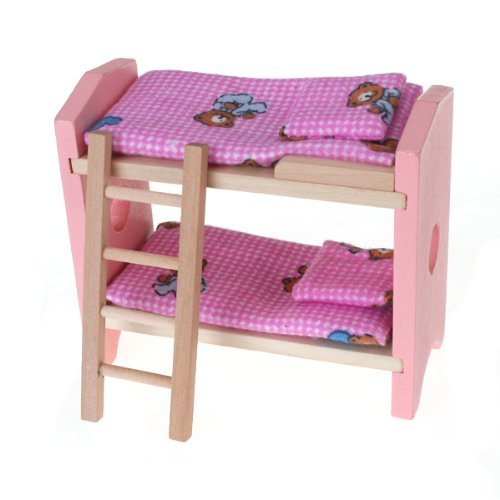 Amovo Natural Wooden Doll House Furniture Kids Bedroom Sets Sets
