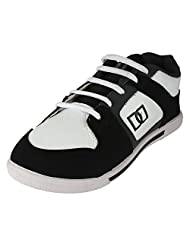 Earton Men's White & Black Running Shoes