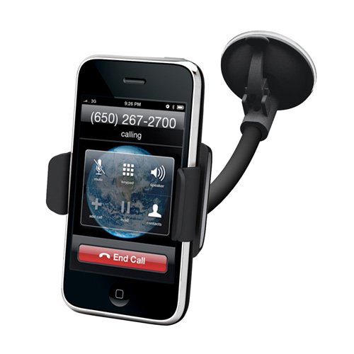 Kensington Quick-Release Car Mount for iPhone 5/4S/4/3G, Black, K39256US