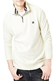Blue Harbour Pure Cotton Piqué Sweat Top [T28-1599B-S]