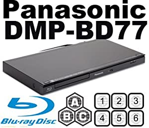 NEW PANASONIC DMP-BD77 All Region Multi Zone DVD Blu Ray Player MultiZone PAL/NTSC. 100~240V 50/60Hz (6 Feet HDMI Cable Included)