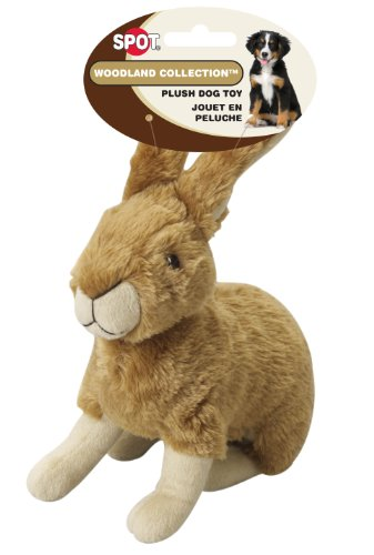 Ethical Pet Woodland Series 8.5-Inch Rabbit Plush Dog Toy, Large
