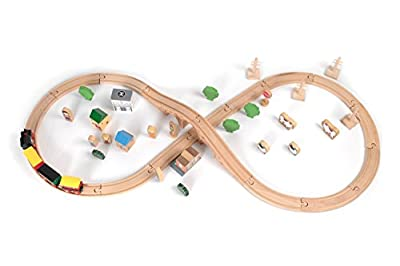 Tidlo Wooden Train Set (50 Pieces) by John Crane