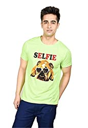 LetsFlaunt SELFIE Dog T-shirt Boys Green Dry-Fit-Medium Nw