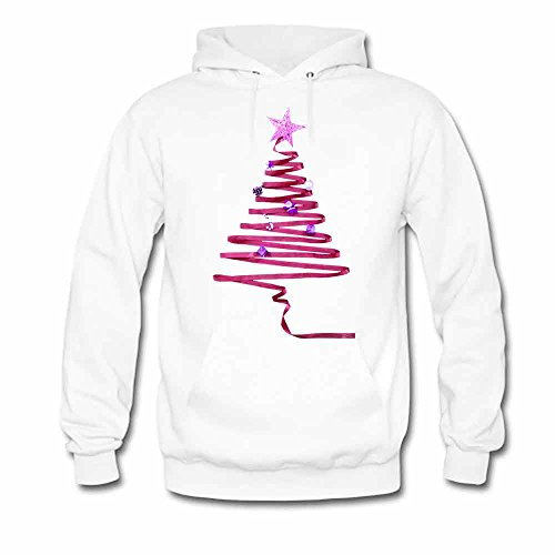 Abstract Ribbons Red Christmas Tree Men's Hoodies XL