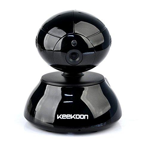 Keekoon Wireless IP Kamera Überwachungskamera (HD 1280x720, Nachtsicht, WLAN, WIFI, Android, Iphone, App, Micro SD / TF Karte)