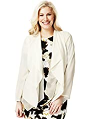 Plus Open Front Waterfall Tailored Jacket